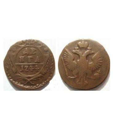 Денга 1744 года цена 20 копеек 1902 года