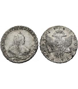 1 рубль 1748 года