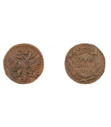 Полушка 1750 года цена мешки денег