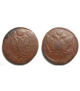 5 копеек 1760 года медь