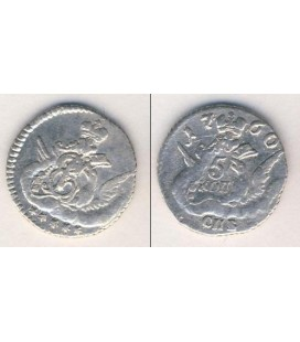 5 копеек 1760 года серебро