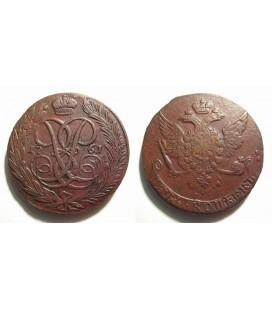 5 копеек 1761 года медь