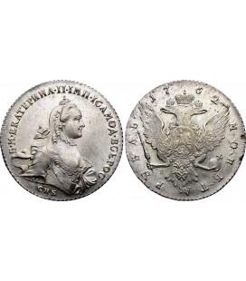 1 рубль 1762 года. Екатерина 2