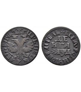 Денга (1/2 копейки) 1704 года