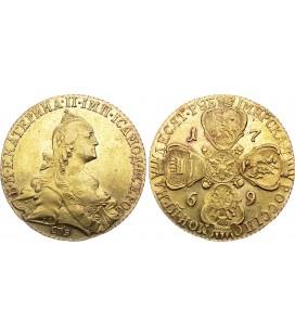10 рублей 1769 года