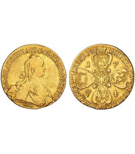 10 рублей 1774 года
