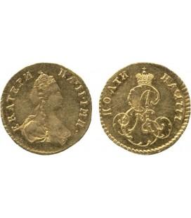 Полтина золотом 1777 года
