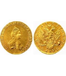 1 рубль 1779 года золото